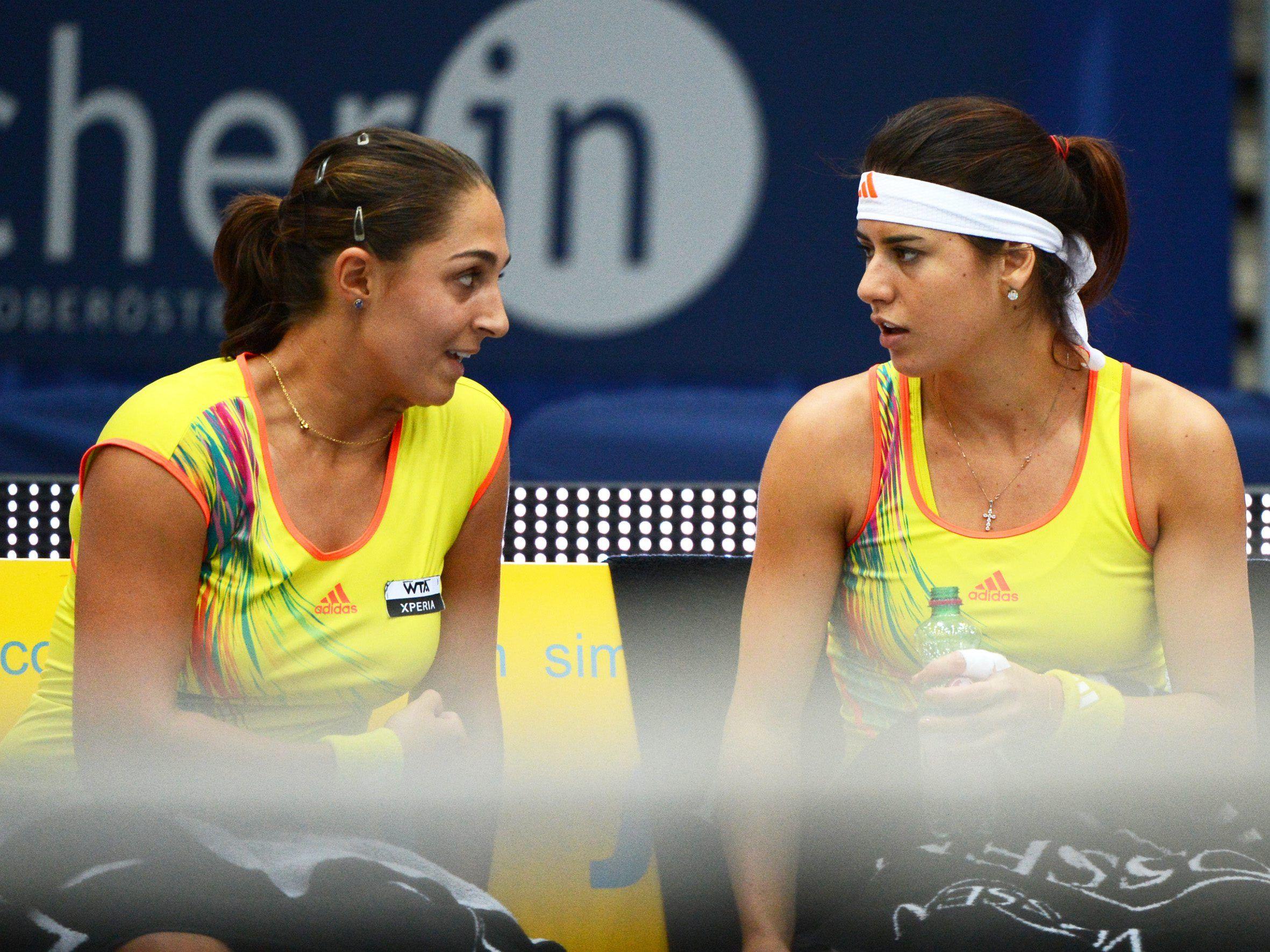 Tamira Paszek and Sorana Cirstea at Linz 2012