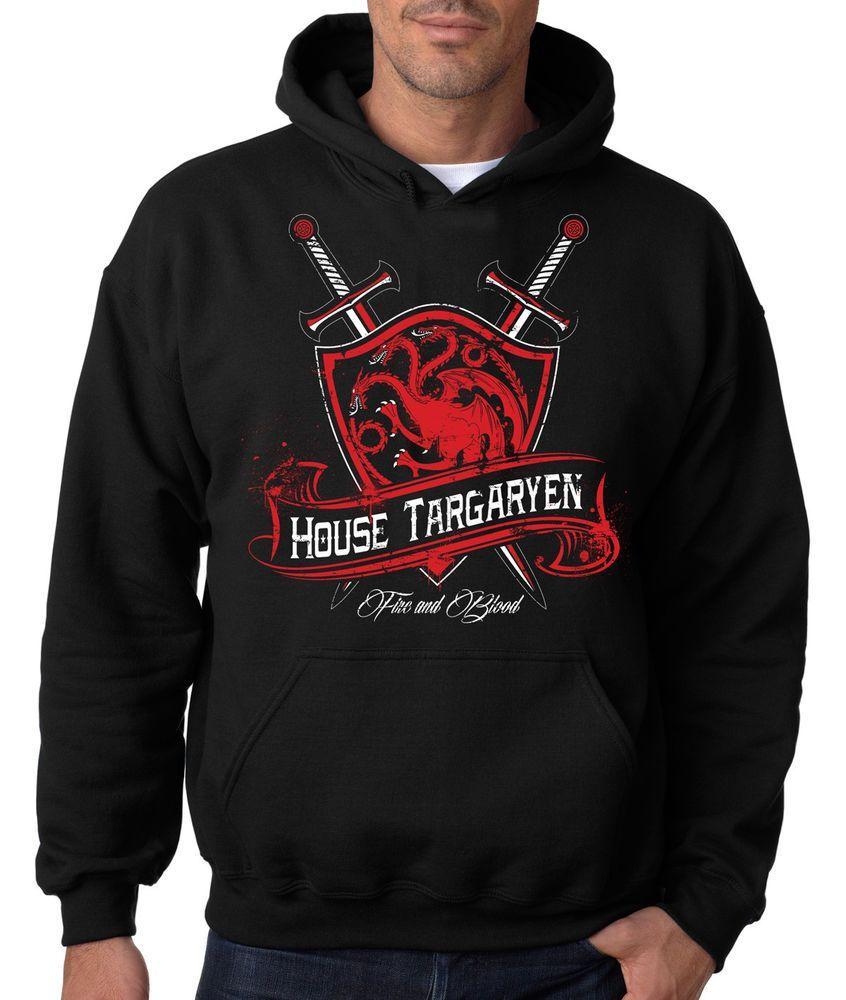 Game Of Thrones Targaryen Symbol HBO Premium Zip Up Hoodie