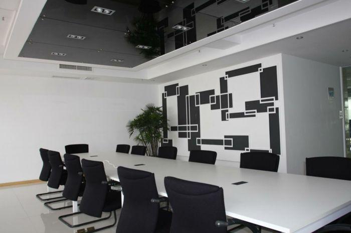 Muster Schwarz-Weiß wandgestaltung mit Farbe wandgestaltung - wandgestalten mit farbe