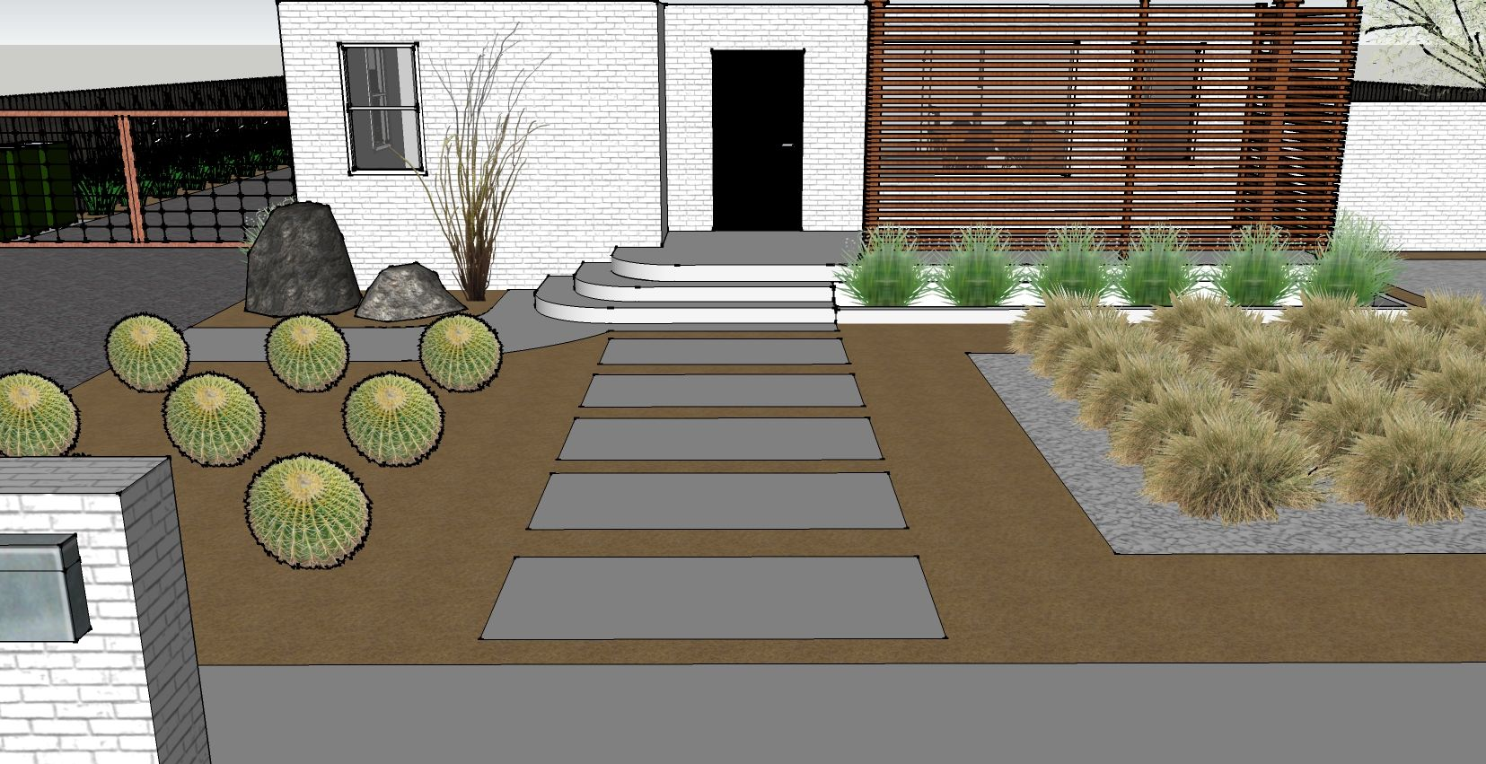 Landscaping Disaster Post Mid Modern Front Yard Front Door Landscaping Modern Backyard Landscaping