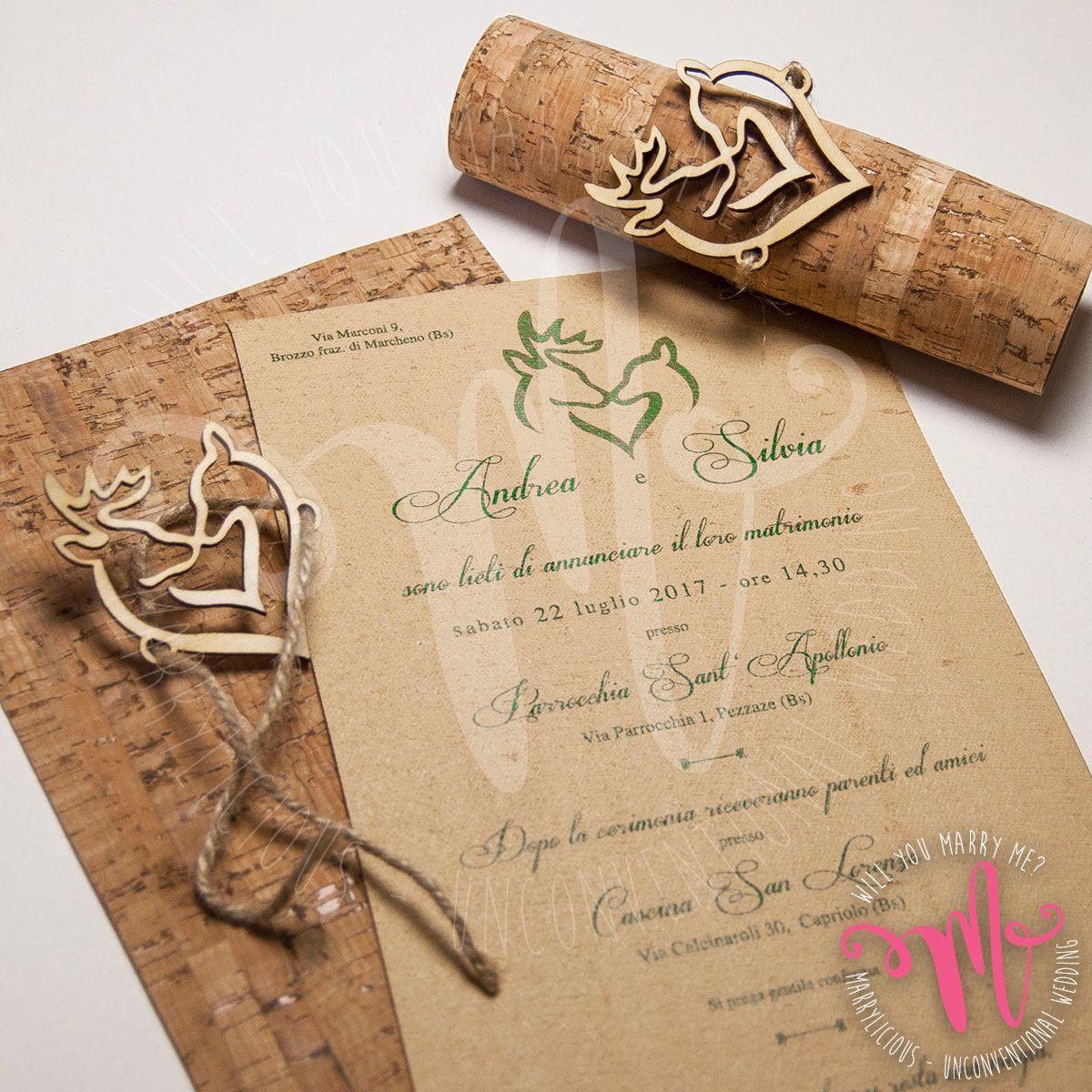 Partecipazioni Matrimonio Legno.L Incanto Del Bosco Per Andrea E Silvia Matrimonio A Tema Vino