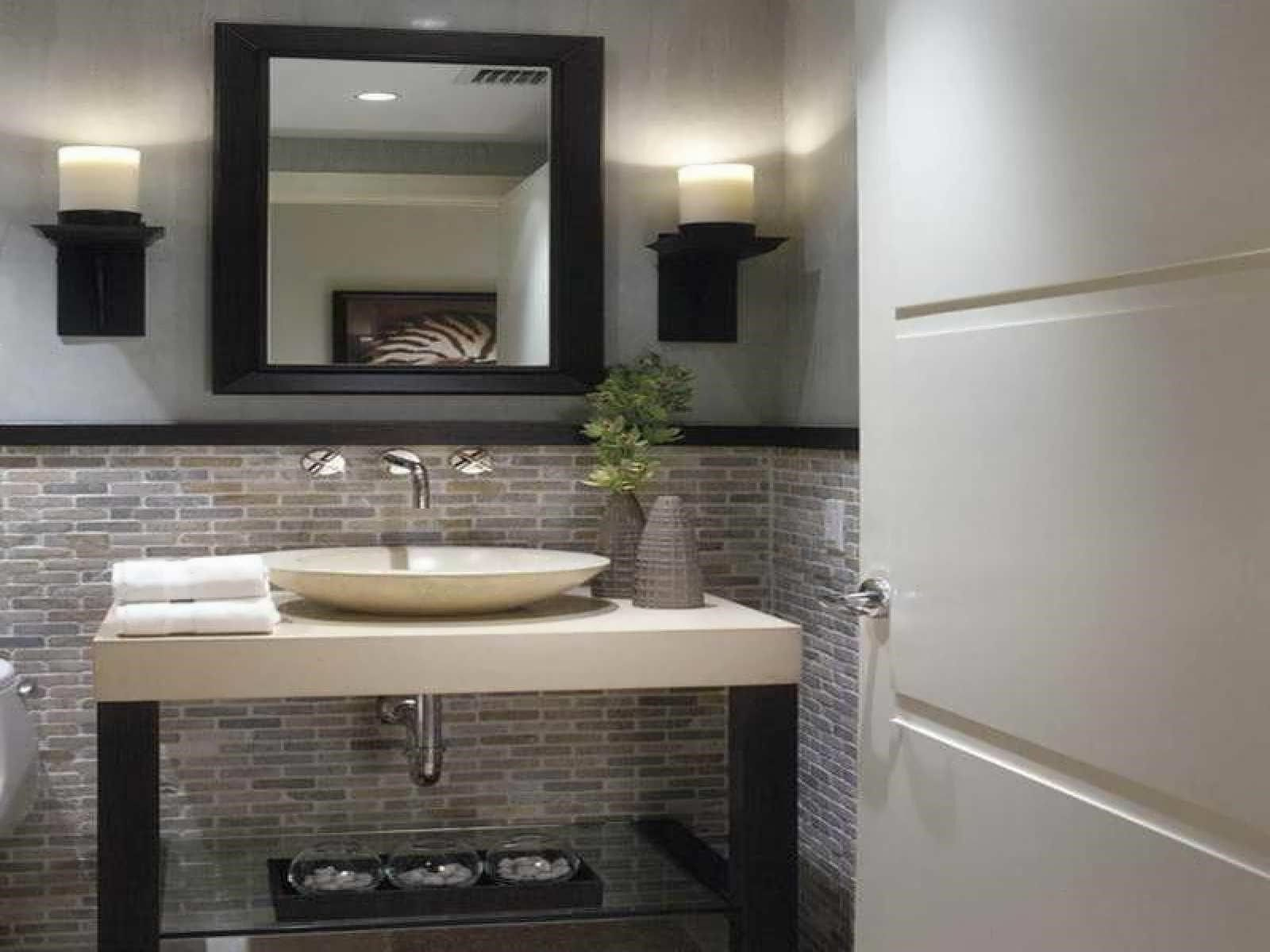 Half bathroom ideas gray - Half Bathroom Ideas Gray
