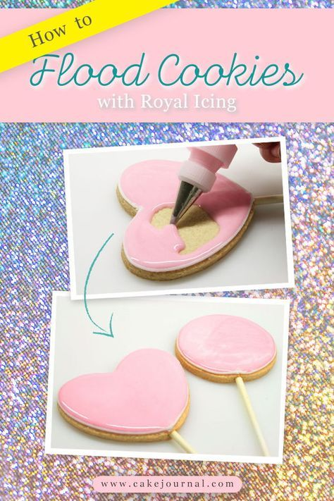 How to flood cookies with royal icing • CakeJournal.com #royalicingrecipe