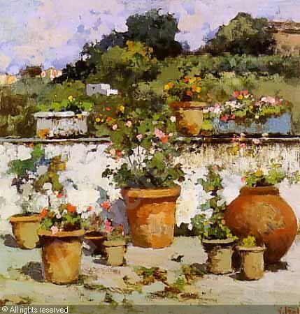 IROLLI Vincenzo,Terrazzo fiorito,Finarte,Milano   Art of Vincenzo ...