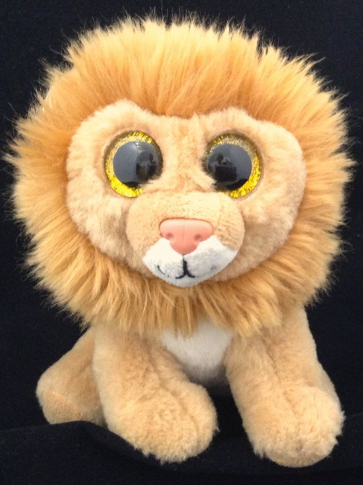 5f4ed82fc26 Ty Beanie Boos Louie the Lion 6 Inch Plush Stuffed Animal Google Eyes  VelveTy  Ty