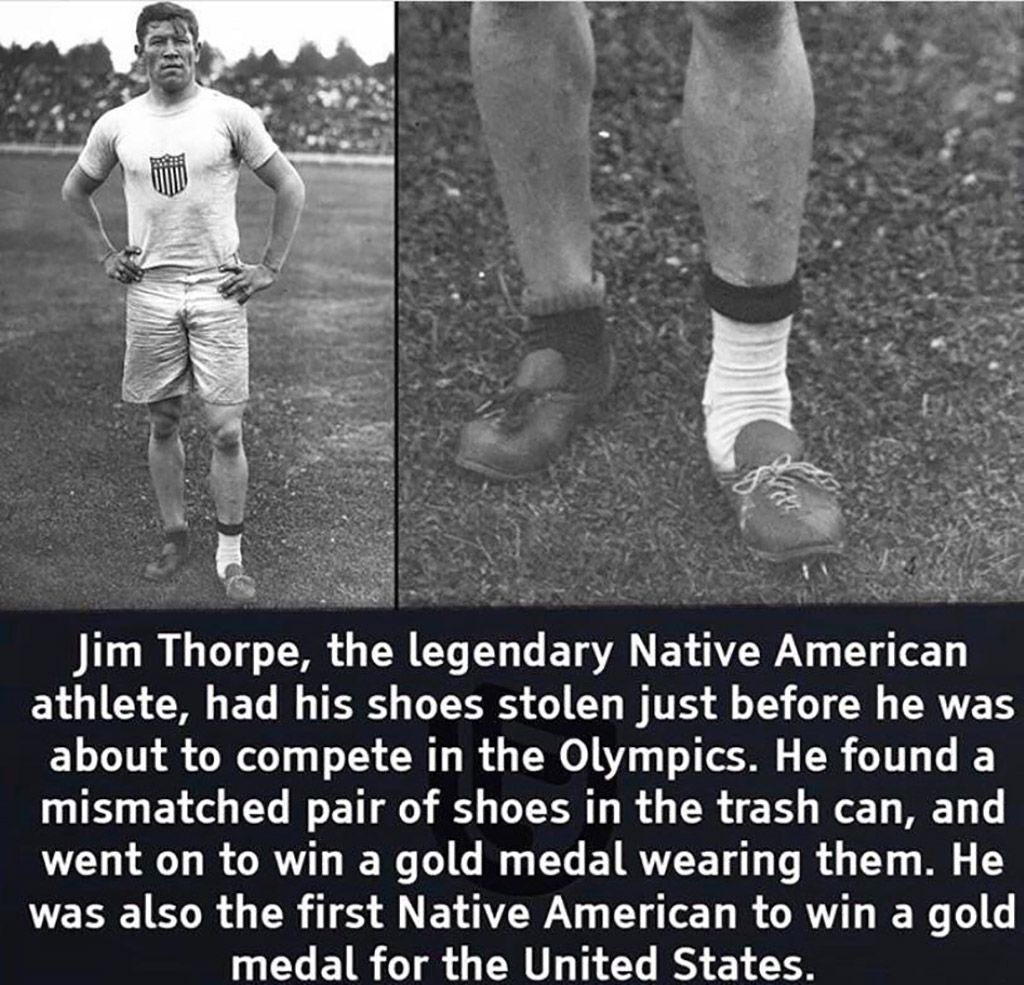 Jim Thorpe... in 2020 Olympic track and field, Jim