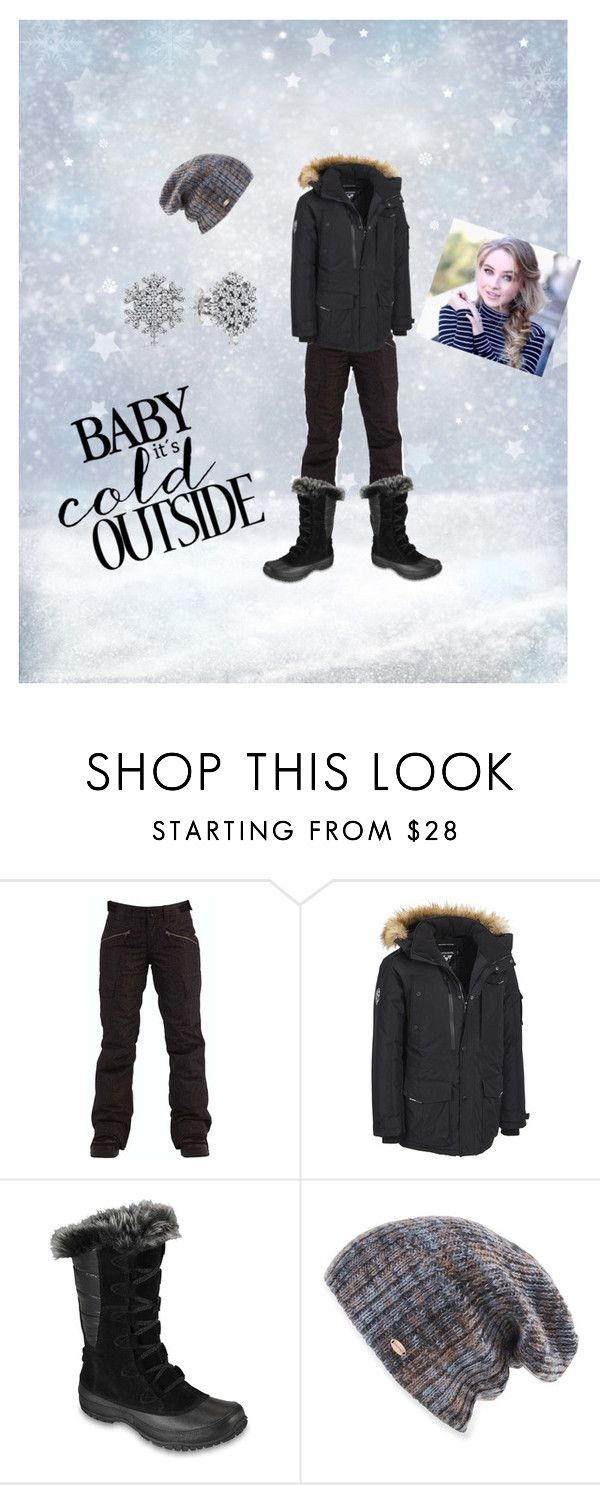 """Baby it's Cold Outside"" by kateheartsilla ❤ liked on Polyvore featuring Billabong, Noize, The North Face, Spacecraft and Pandora"