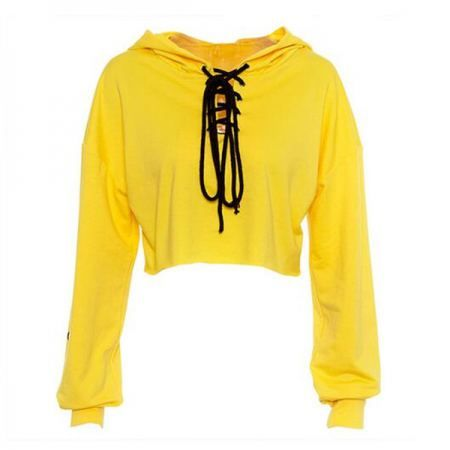 Lace up front hoodie for women number 304 crop top sweatshirt  7cc79fc05
