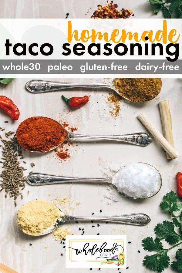 HOMEMADE WHOLE30 TACO SEASONING MIX - Gluten-free,