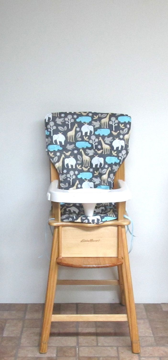 Chair Pad, Eddie Bauer High Chair Cover, Jenny Lind Chair Pad, Kids Feeding  Chair, Nursery Furniture, Kids Furniture, Home Decor, Blue Hippo