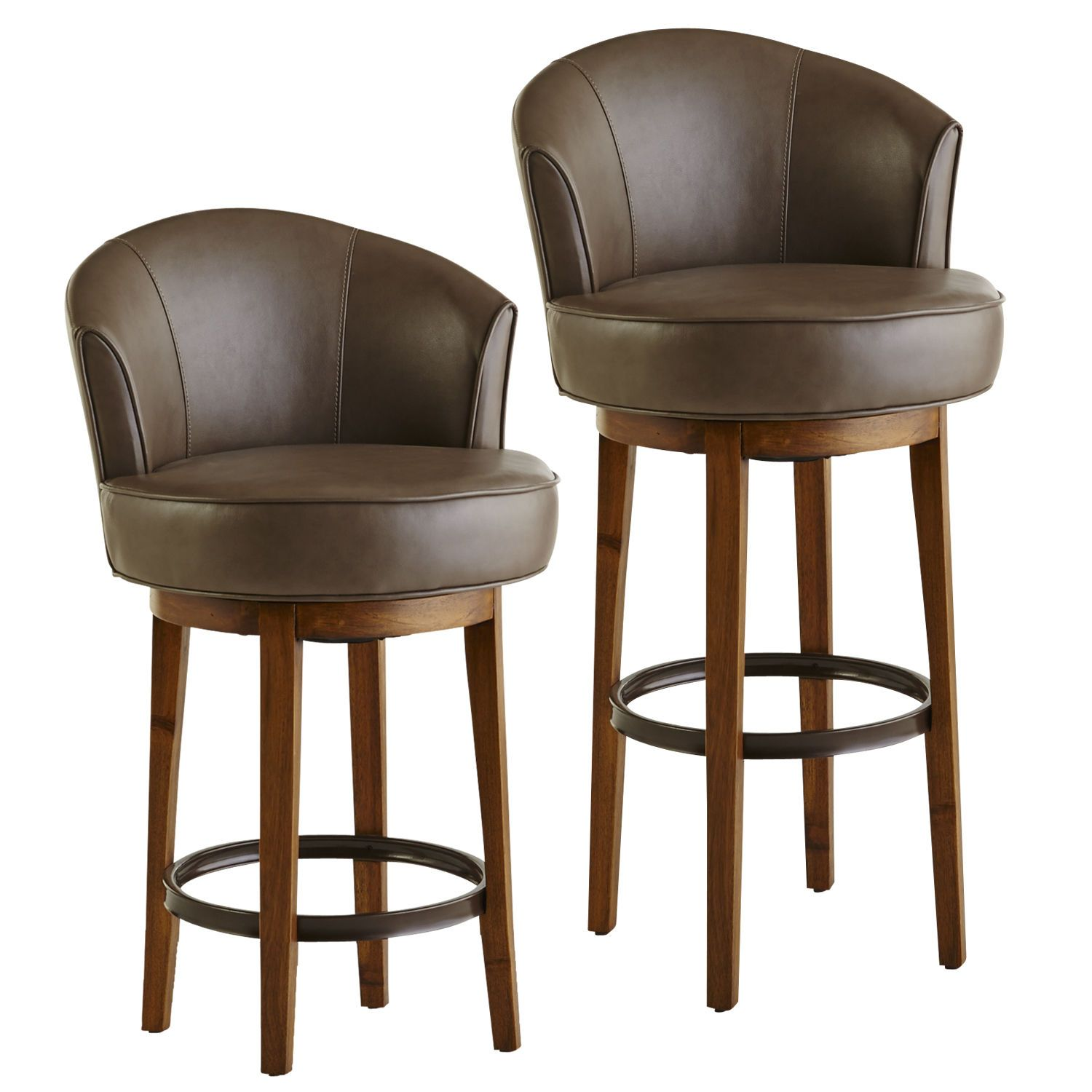 Isaac Swivel Bar & Counter Stools Taupe