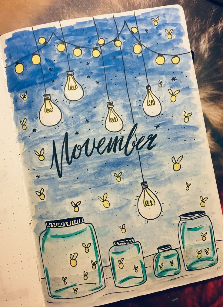Bullet Journal Ideas Listopad Cover Inspiration #bullet # okładka #Ideas #inspirati ... - Home Decor #novemberbulletjournalcover