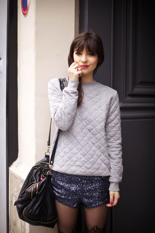 quilt sweatshirt, love it! (via Le Blog de Betty : Blog mode, blog tendances, photos de mode)