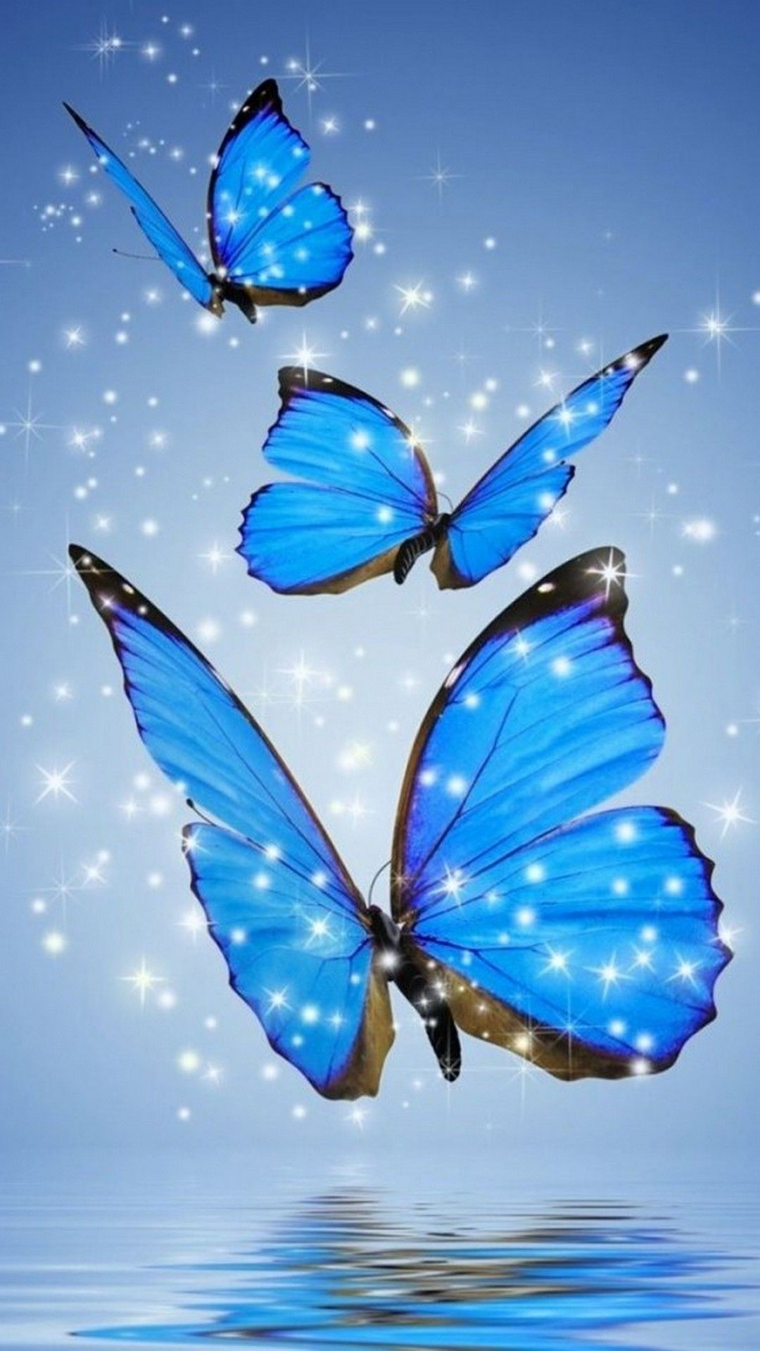 Blue Butterfly Wallpaper For Phone 1080x1920 Blue Butterfly Wallpaper Butterfly Wallpaper Butterfly Wallpaper Iphone