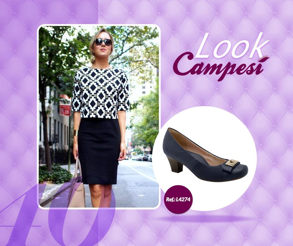 Para mulheres mais clássicas, um visual composto por cores neutras e um #Campesí confortável e social é perfeito. #lookCampesí #moda
