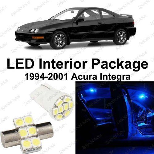 Splendid Autos Ultra Blue LED Acura Integra Interior