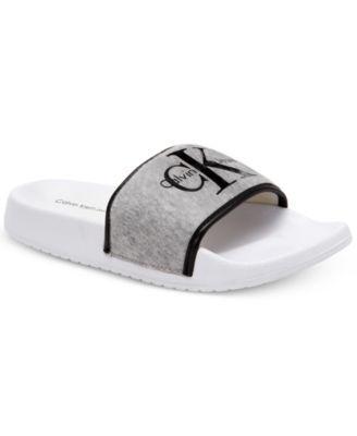 f5df1bd979bb CALVIN KLEIN Calvin Klein Men S Viggo Logo Slide Sandal .  calvinklein   shoes   all men