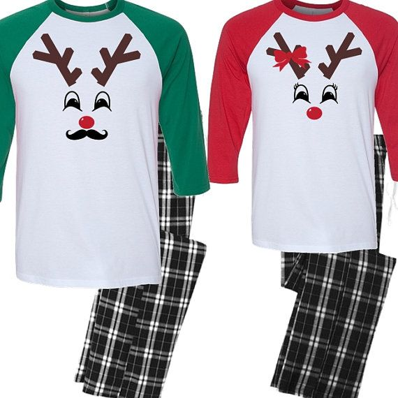 c53f40ce His and Hers Christmas Pajama Set Couples by BeforeTheIDos on Etsy ...
