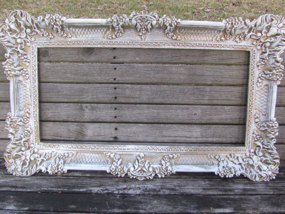 SHABBY CHIC FRAME, Gallery Frame, gray/White picture Frame,antique ...