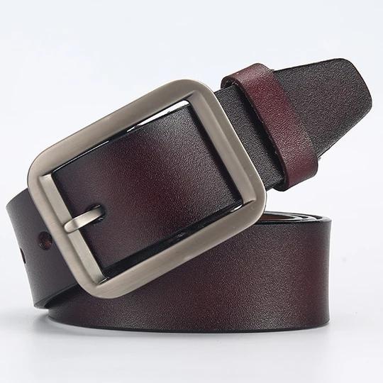 [LFMB]male genuine leather strap belts for men leather belt man brand strap male pin buckle fancy vintage cowboy jeans