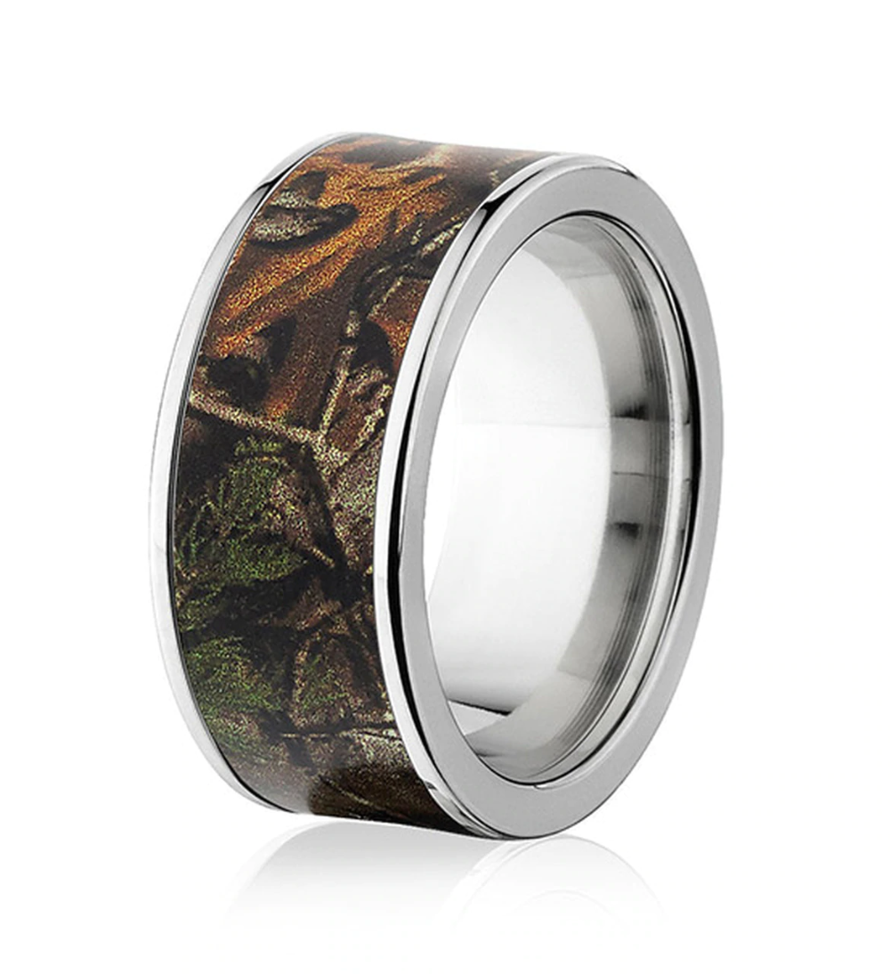 Licensed Realtree Ring in 10mm Titanium Pick your