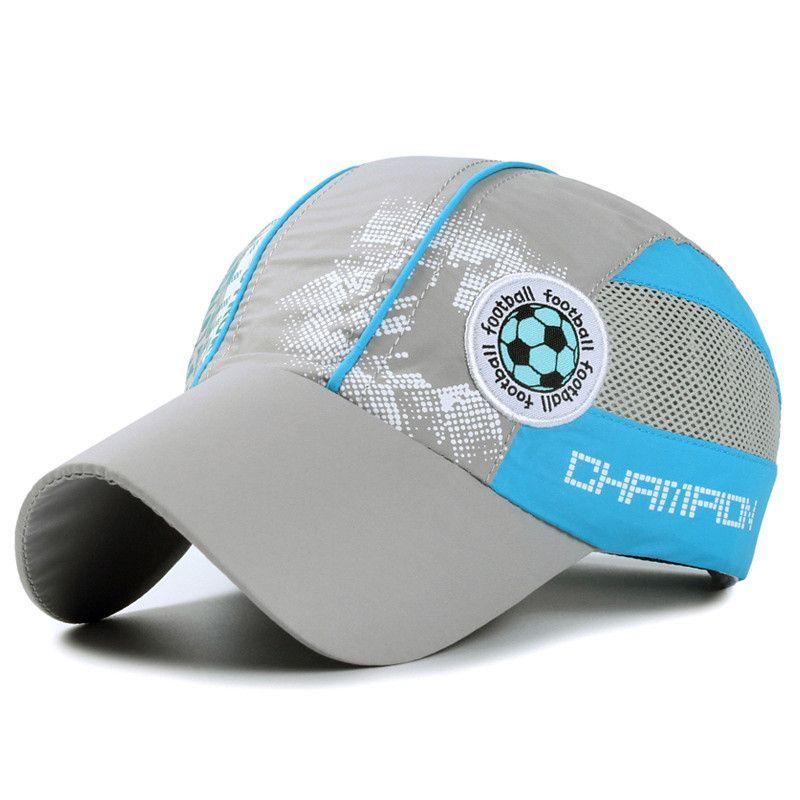 1c8dac9ddf8 Summer Children High Quality Cool Football Cap for Kids Boys Girls Soccer  Mesh Casquette Outdoor Sport Gorras Casquette 52-54cm