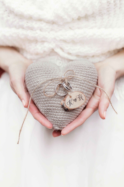 Rustic vintage heart wedding ring box 4LOVEPolkaDots