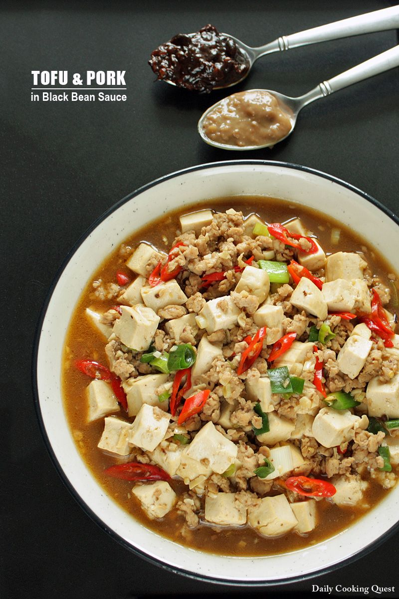 Daily Cooking Quest : Tofu and Ground Pork in Black Bean Sauce