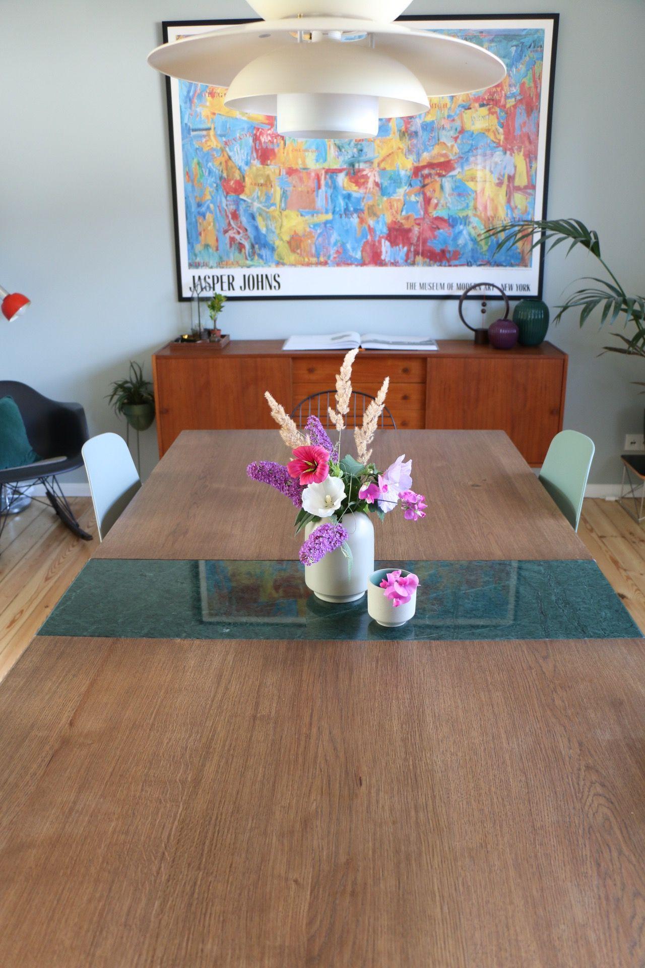 Massivholztisch Nach Mass Mit Marmorplatte Esstisch Tisch