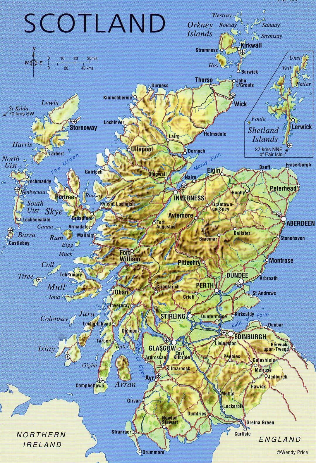 picture relating to Printable Map of Scotland identified as Huge comprehensive map of Scotland with reduction, roadways, weighty