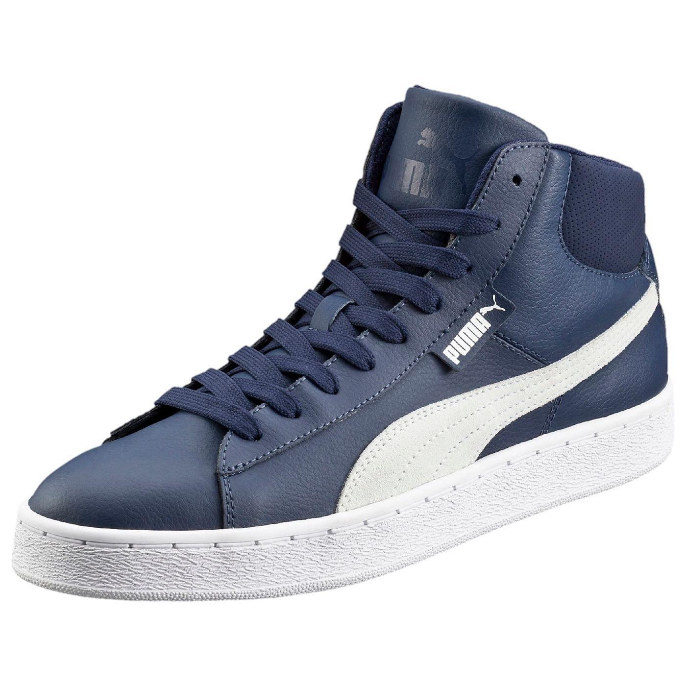 Puma 1948 Mid L    Der PUMA 1948 High-Top ist ein vom Basketball inspirierter mittelhoher Schuh, der die Tradition des PUMA-Formstrips mit einem auf Leistung ausgelegten Design kombiniert. Diese Leder-Version ist wie gemacht für jeden Anlass....