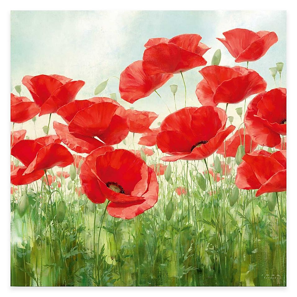 Courtside Market Red Poppies Canvas Wall Art Bed Bath Beyond In 2021 Poppy Wall Art Poppy Flower Painting Poppy Painting