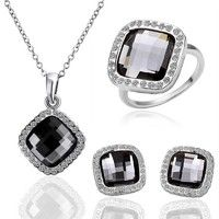 I think you'll like Korean Style Square 18k White Gold Plated  Rhinestone Pendant Necklace Ring and Earring Stud Set Nice Gift. Add it to your wishlist!  http://www.wish.com/c/533e7c548cba0b7b855628ac