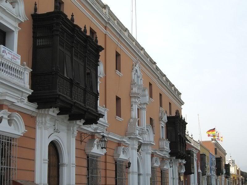 Trujillo Perú balcones coloniales