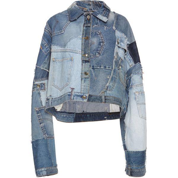 Rosie Assoulin Denim Jacket ($1,695) ❤ liked on Polyvore featuring outerwear, jackets, tops, denim jacket, blue jackets, long sleeve denim jacket, giamba and long sleeve jacket