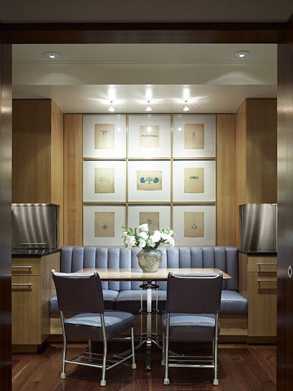 Gallery Wall  Banquettes Gallery Wall And Hanging Frames Magnificent Kitchen Booth Designs Design Decoration