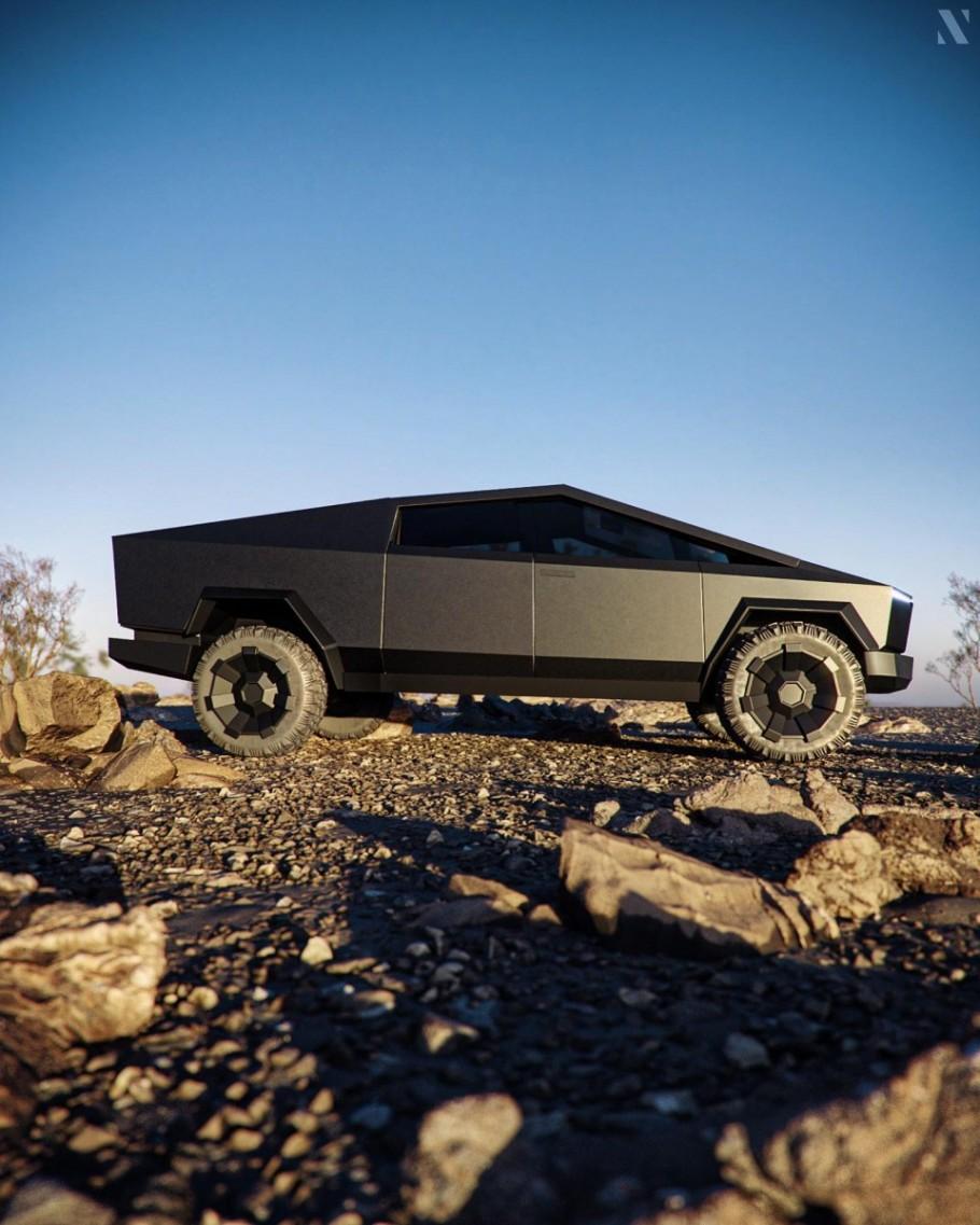 Cgi Cybertruck Tesla Tesla Roadster Tesla Pickup Trucks