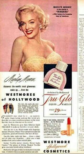 Marilyn Monroe ~ Westmore Hollywood Cosmetics, 1952 | How ...