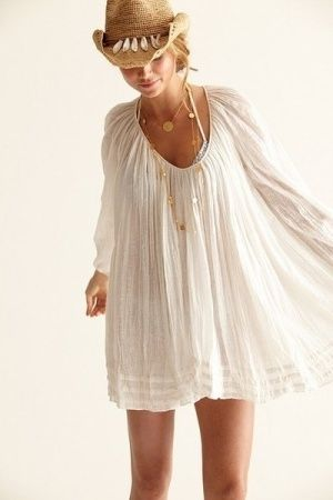 cute,swimsuit cover-up and hat,for after a day at the pool to going out to eat