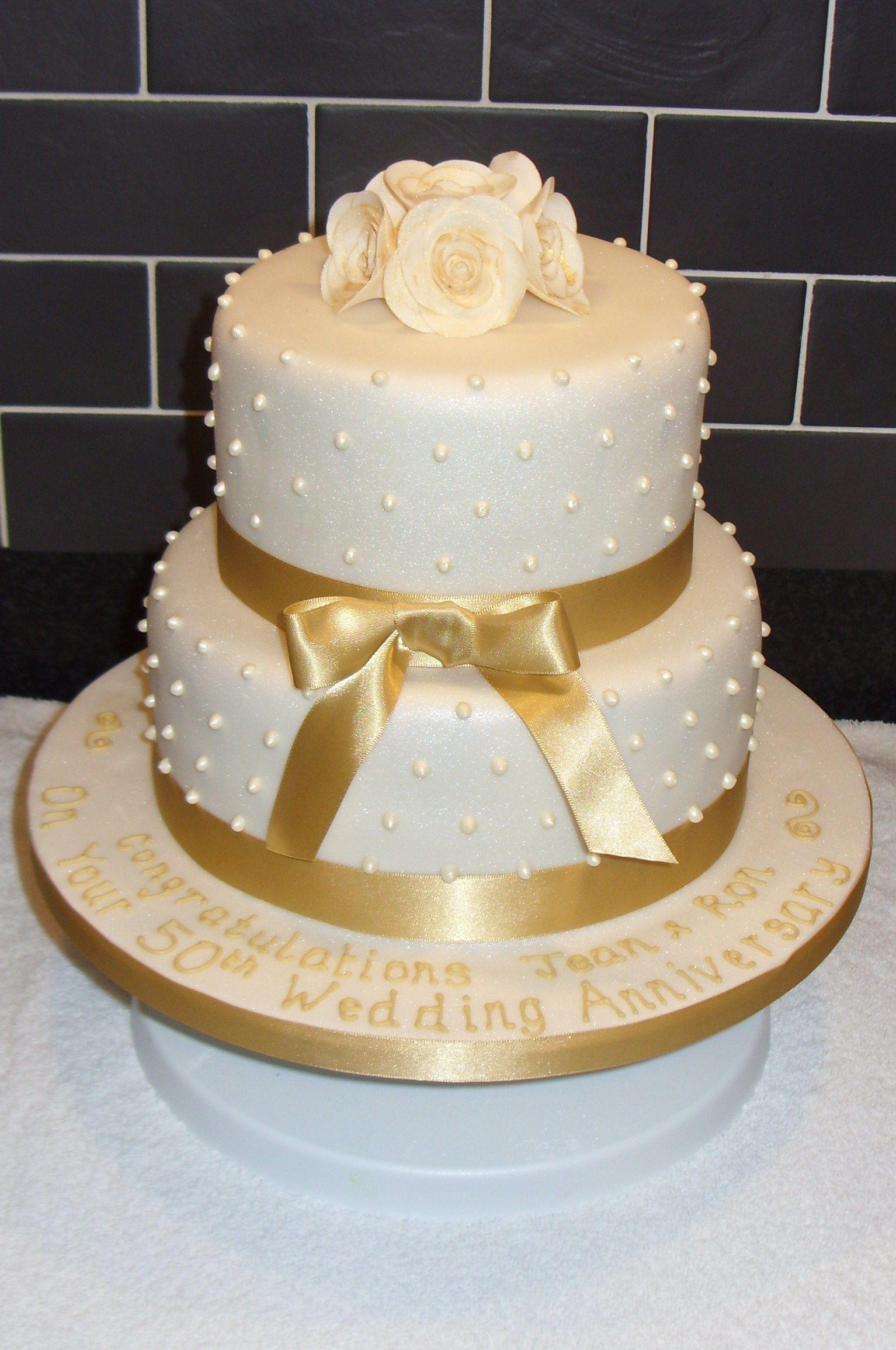Golden Wedding Anniversary Cake 50th wedding anniversary