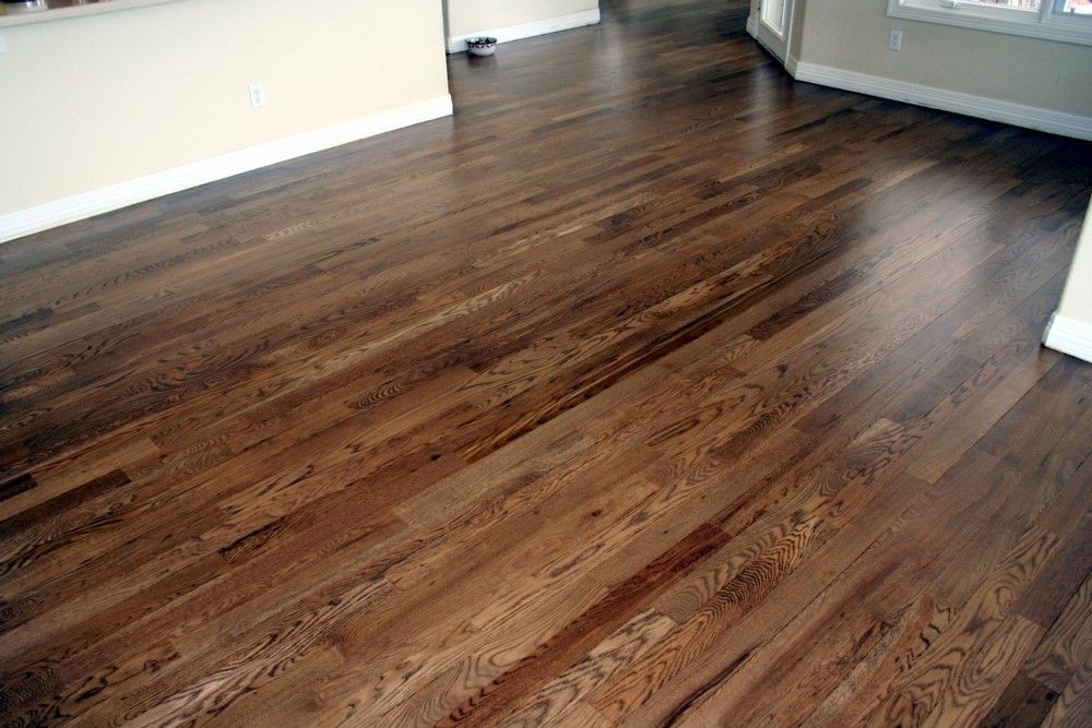 Denver Floor Guy Old Strip Oak Floors Turned Trendy Before After Hardwood Floor Colors Red Oak Hardwood Floors Floor Colors