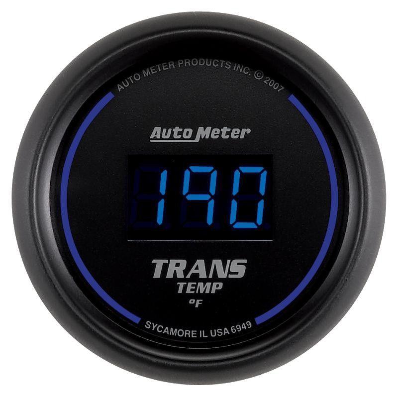 Autometer 52.4mm Black Digital Transmission Temperature