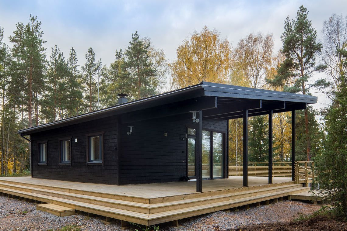 Photo 8 Of 15 In These Log Cabin Kit Homes From Finland Are Log Cabin Exterior Log Cabin Kits Cabin Kit Homes