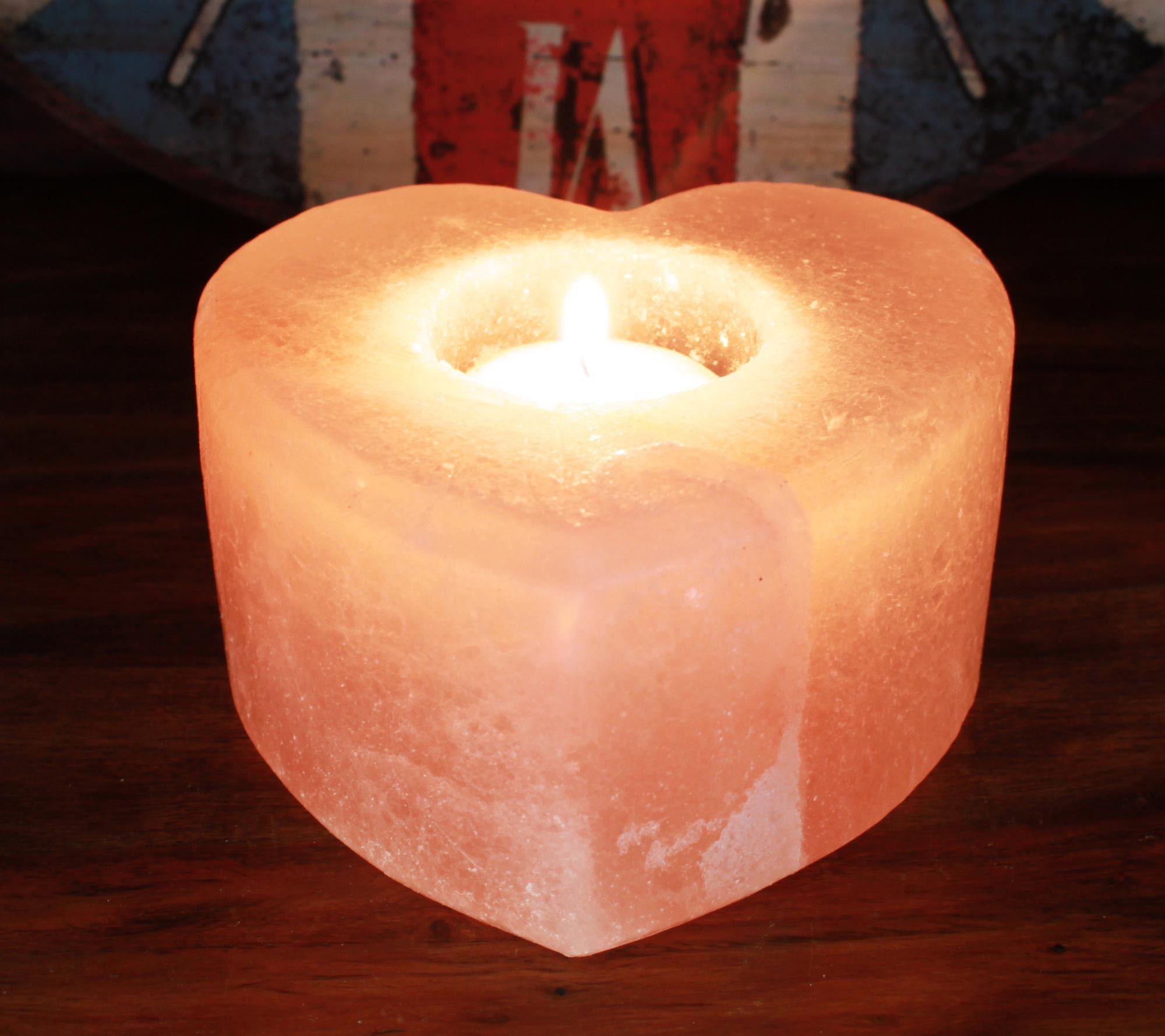 Salt Candle Holder Heart Himalayan Salt Lamps