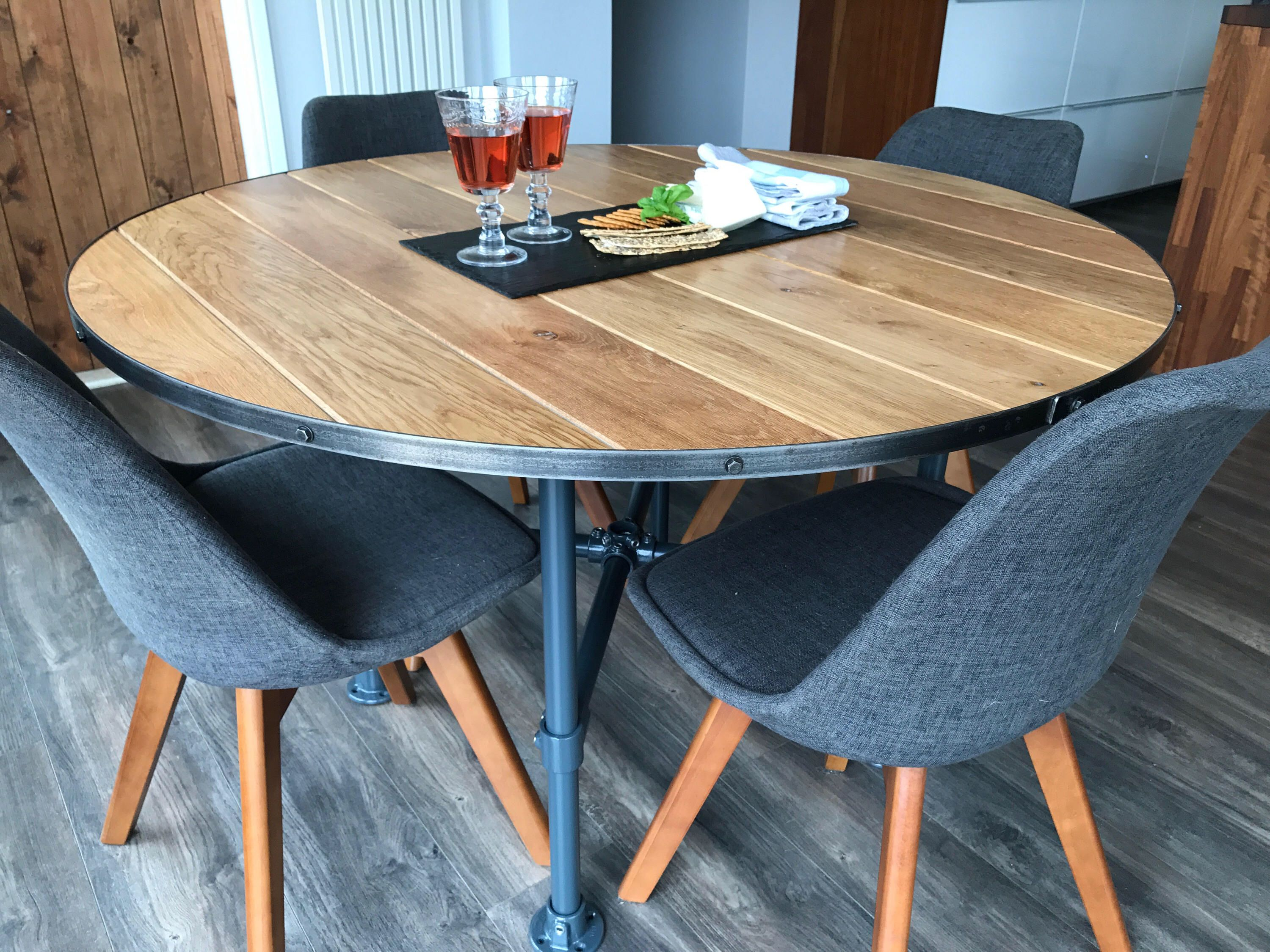39+ Industrial round dining table set Best Seller