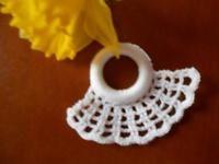 Serviettenringe Handarbeit weiß 6 Stück neu
