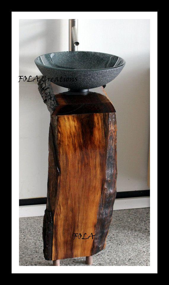 Bathroom Sinks Made In Usa live edge bathroom vanity in black walnut for vessel sinks