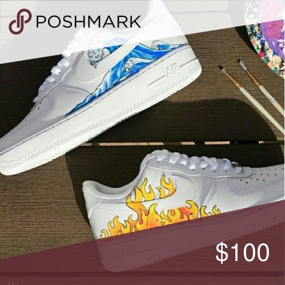 1 pair of custom designed nike shoes