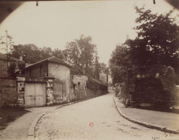 1925-1927 - Arcueil-Cachan : Vieille rue. Photographe : E. Atget