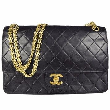 d17980c6e419 Chanel Classic Lambskin Double Gold Chain Flap Shoulder Bag. Get one of the  hottest styles